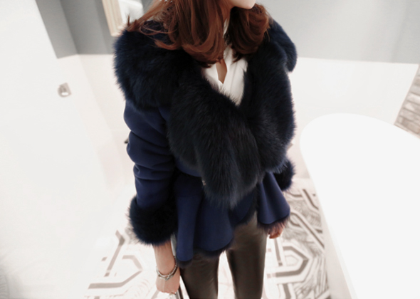 collar wool jacket