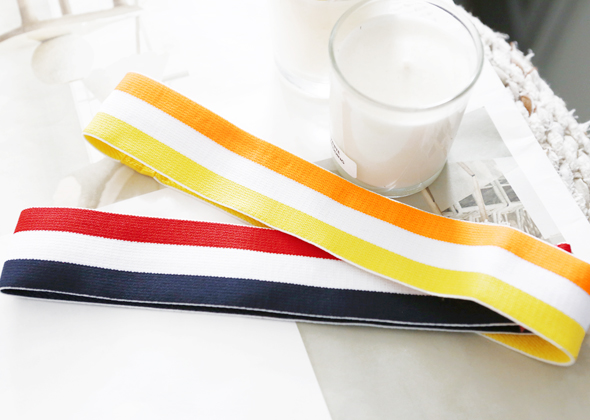 three color hair band