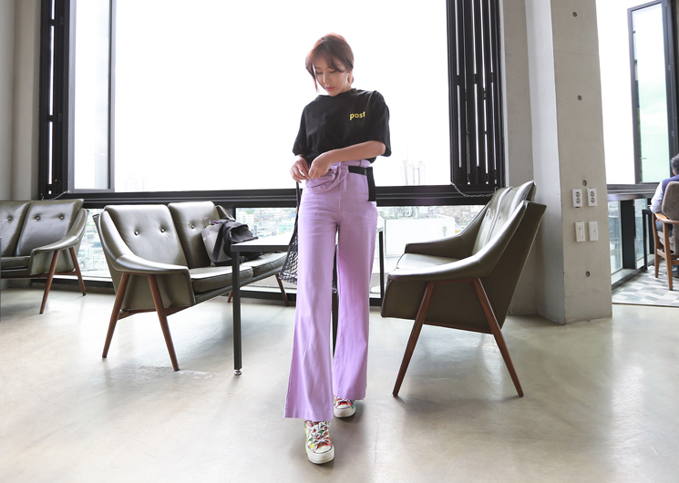 [SALE] belt bag pants (purple)