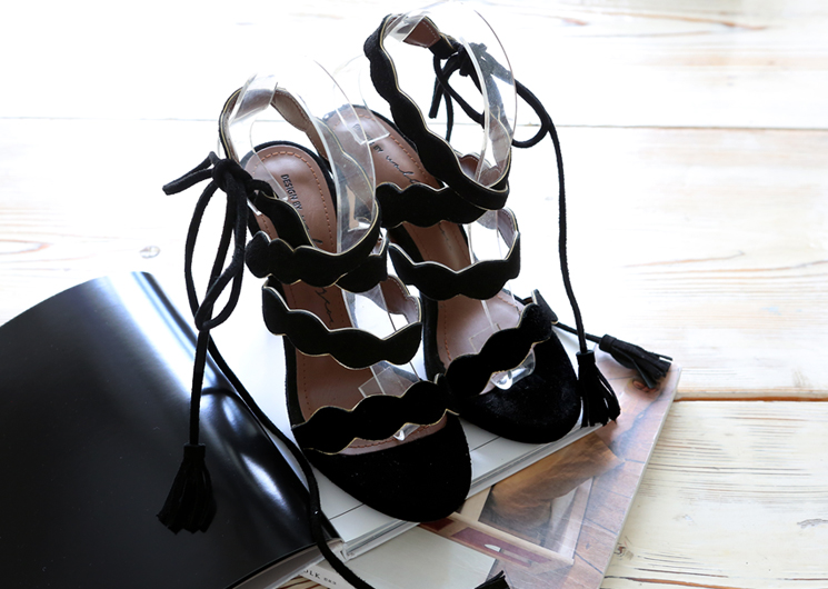 walking wave heel (black)