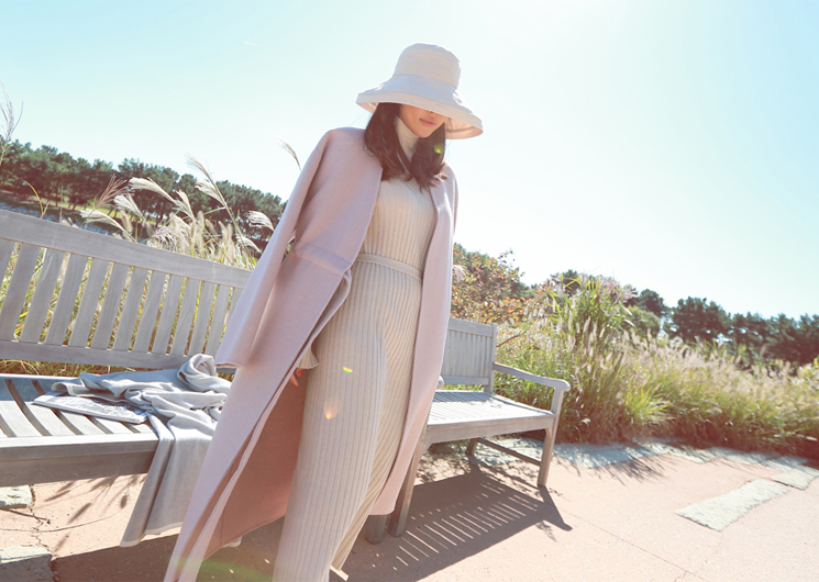 sanders coat (pink) codi set