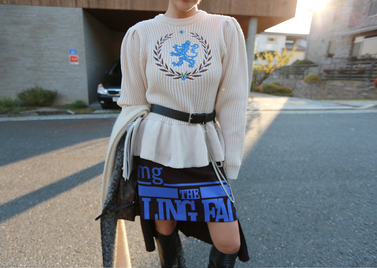 clothi puff knit