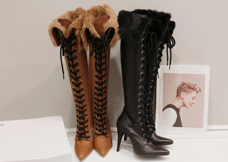 rabbit fur multi boots