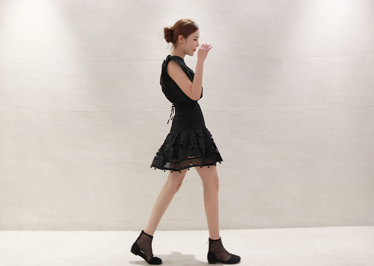 bell mini skirt (black)