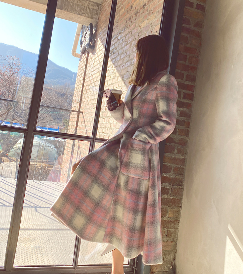Candy Check Coat