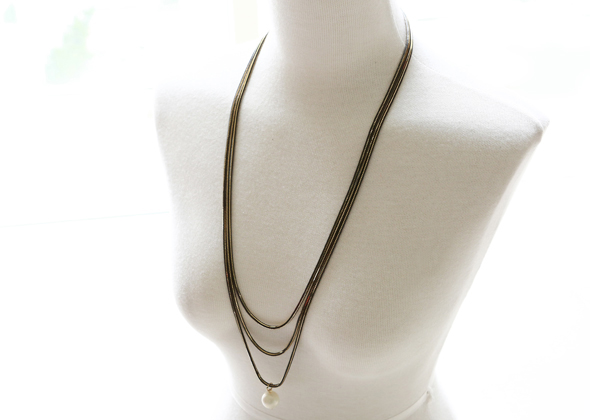 black line necklace