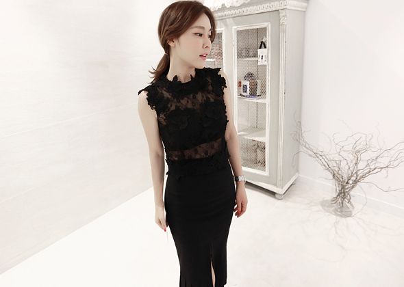 walking blouse (black)