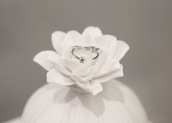 flower cubic ring