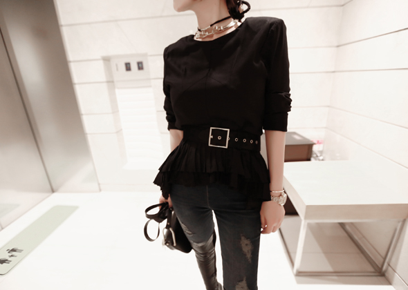 piano blouse (black)