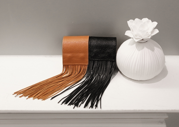 leather tassel bracelet