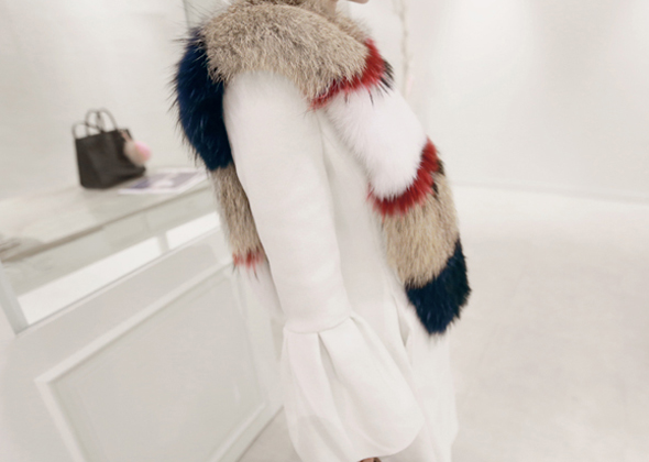 luxury fox fur muffler
