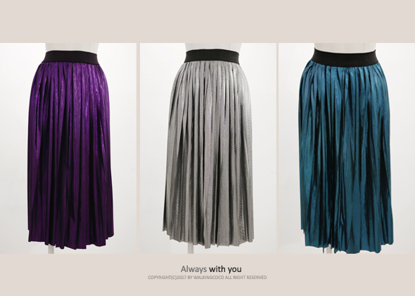 [SALE] metal pleats skirt