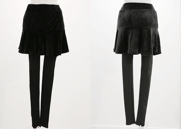 [SALE] velvet frill leggings