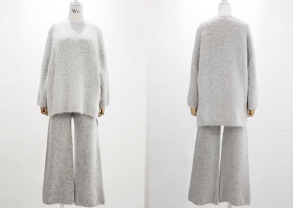 [SALE] angora knit pants set