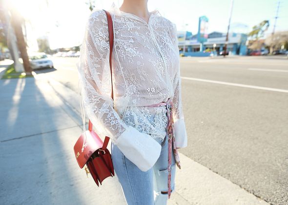 angel flower blouse