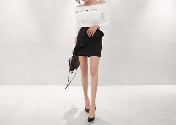 lady frill skirt