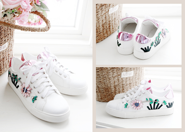 spring beads sneakers