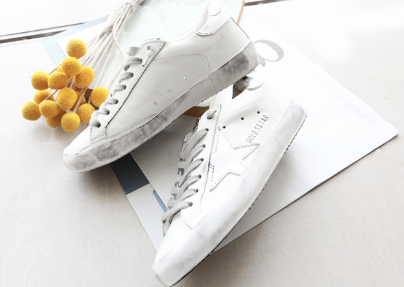 basic gold star sneakers