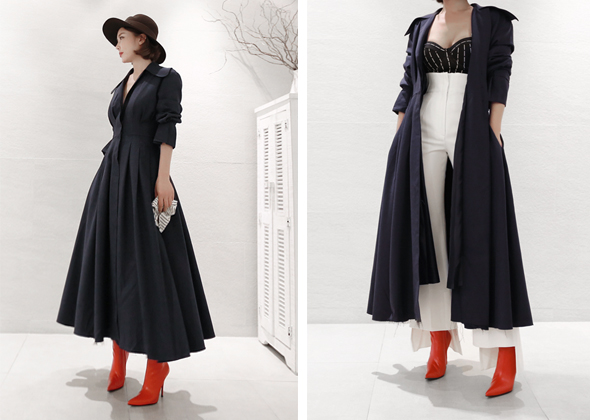 loney wrinkle coat (navy)