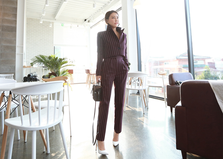 ellie stripe pants (wine)
