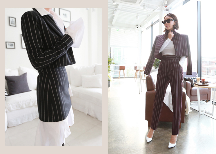 ellie stripe set (black)