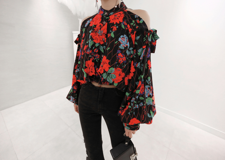 flower garden blouse