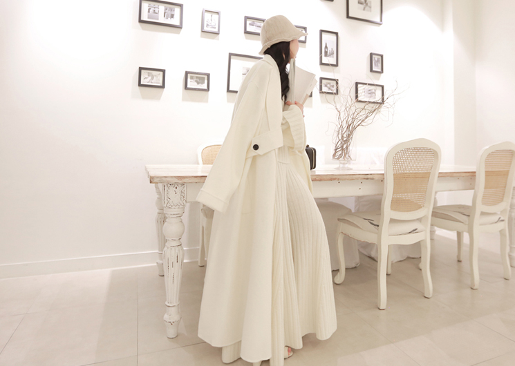 every long coat (ivory)