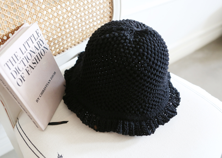 knit flare hat