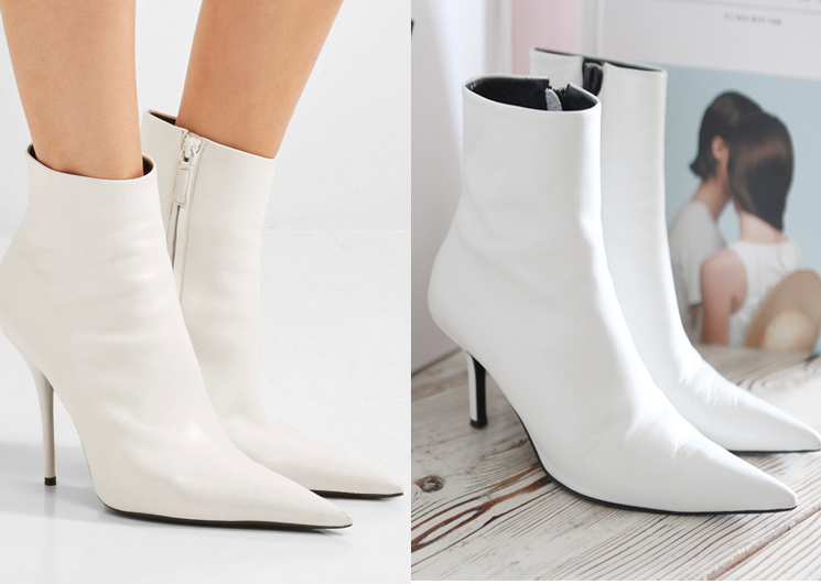 walking blaen ankle boots (white)