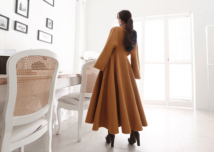 like long coat (brown)