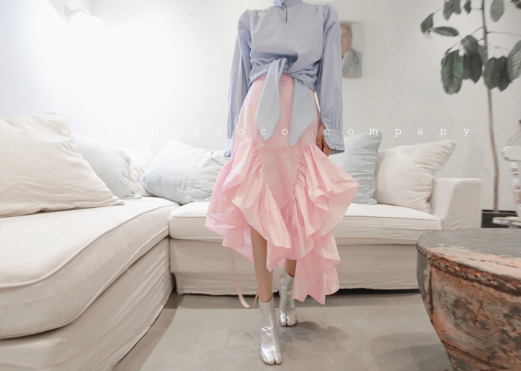 coating frill skirt (pink)