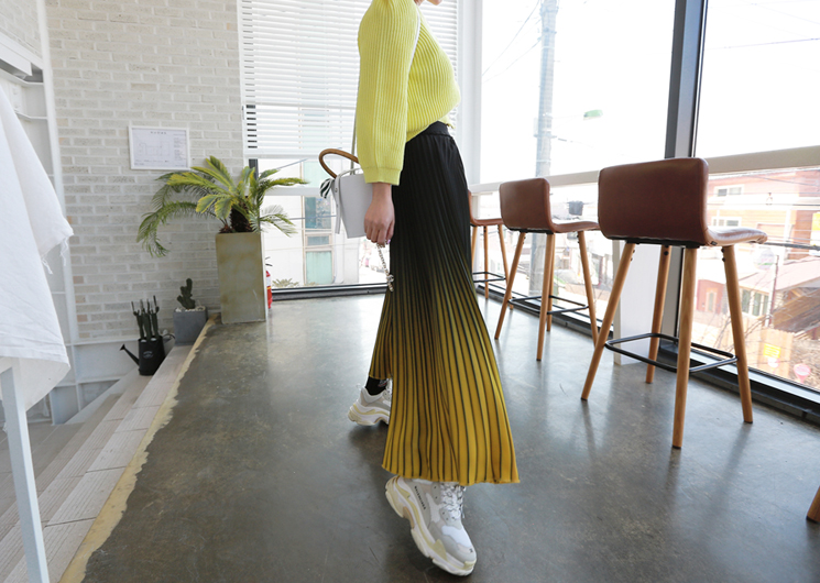 aurora skirt (yellow)