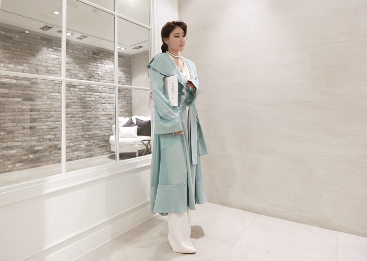 chiffon point trench coat (mint)
