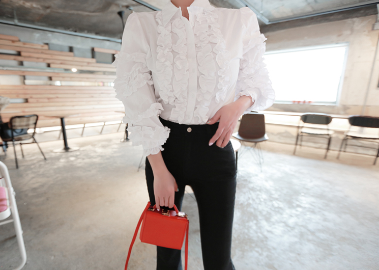 dolce frill blouse