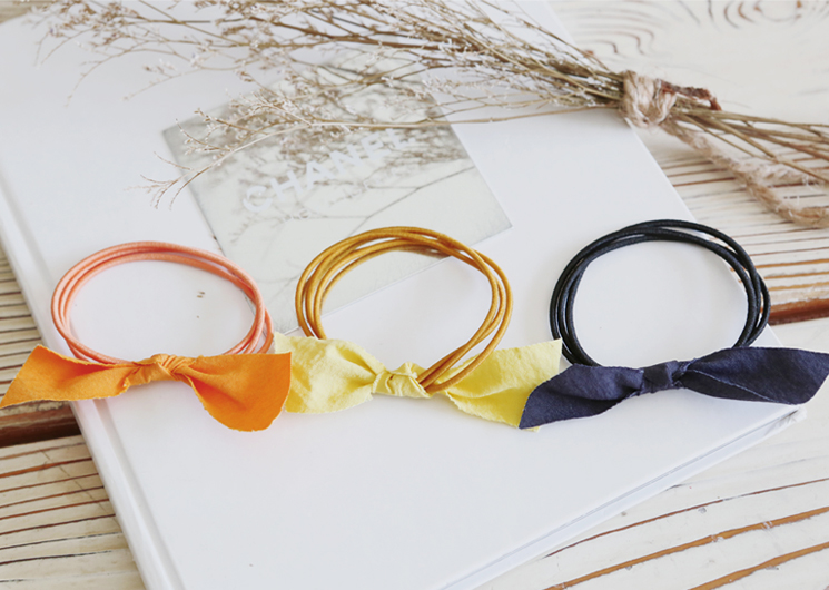 color ribbon hair strap