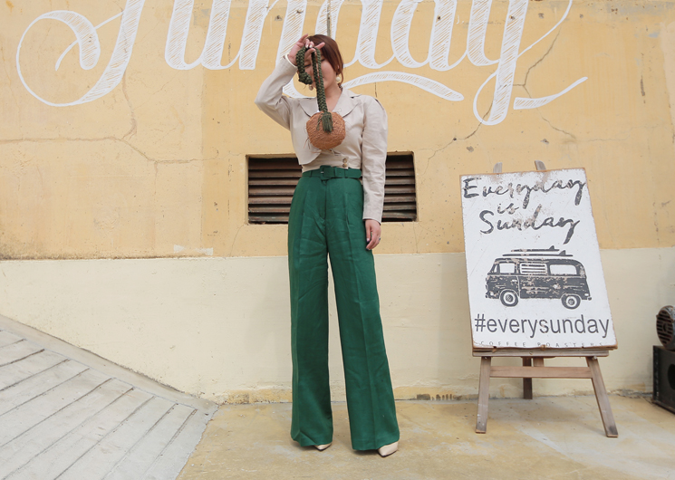 [SALE] linen wide pants