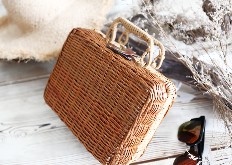 red check picnic bag