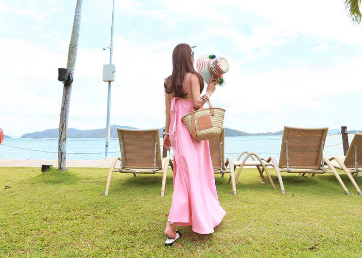 beach linen one-piece (pink)