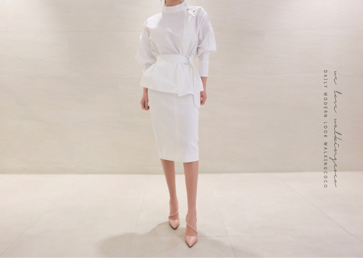 two line skirt (ivory)