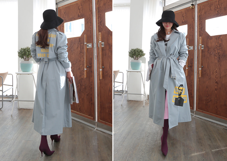 about trench coat (blue)