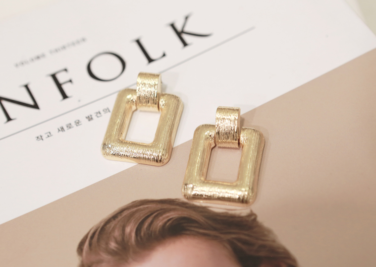 square light earing