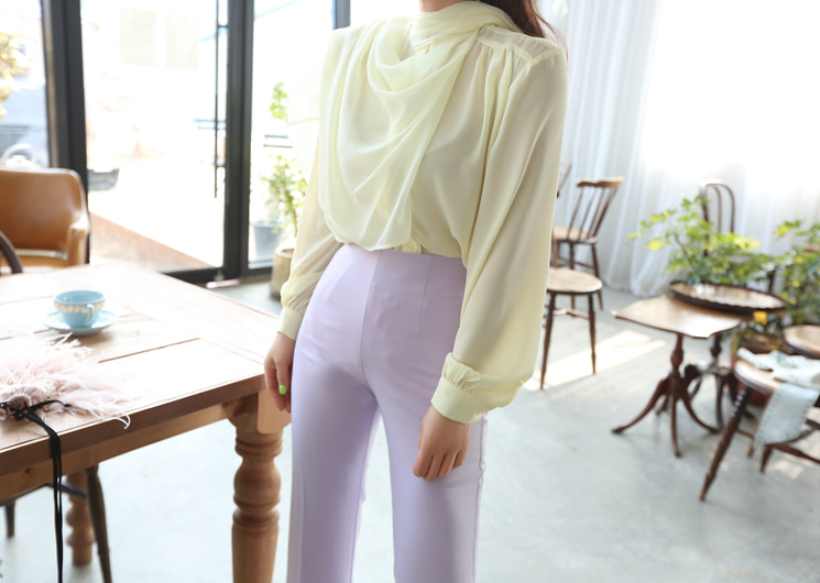 big scarf blouse (yellow)