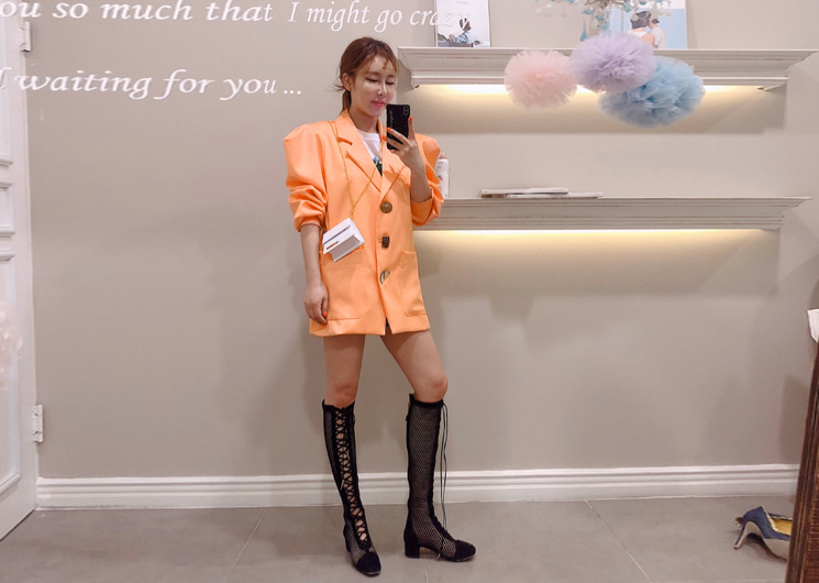 up puff jacket (orange)