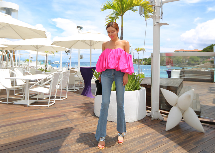 acler pink blouse