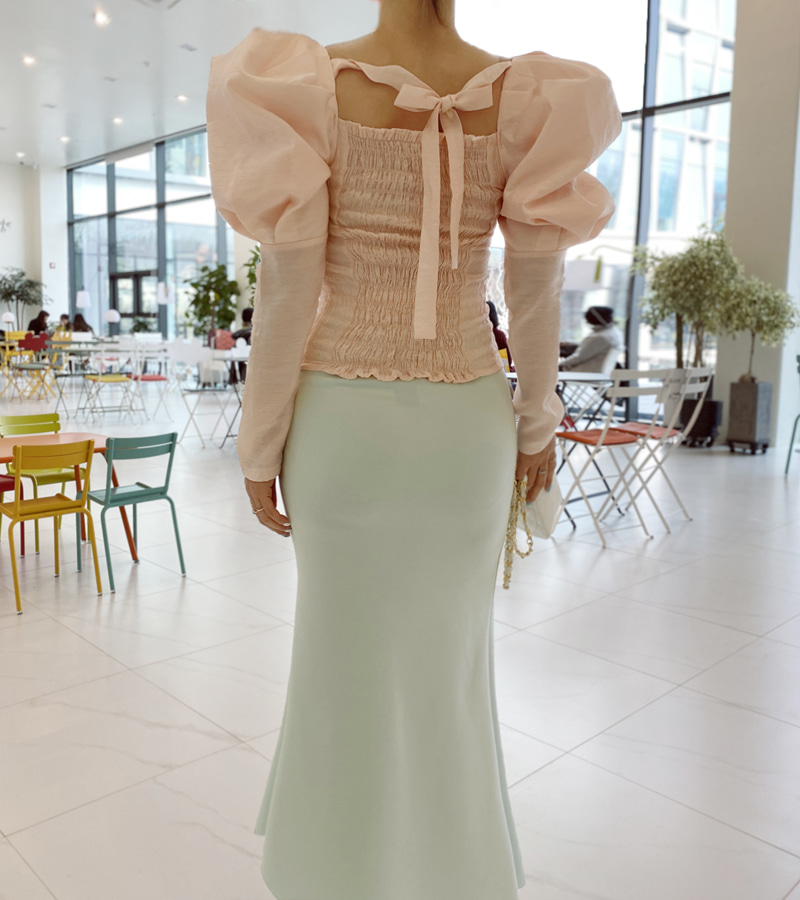 like like blouse (peach)