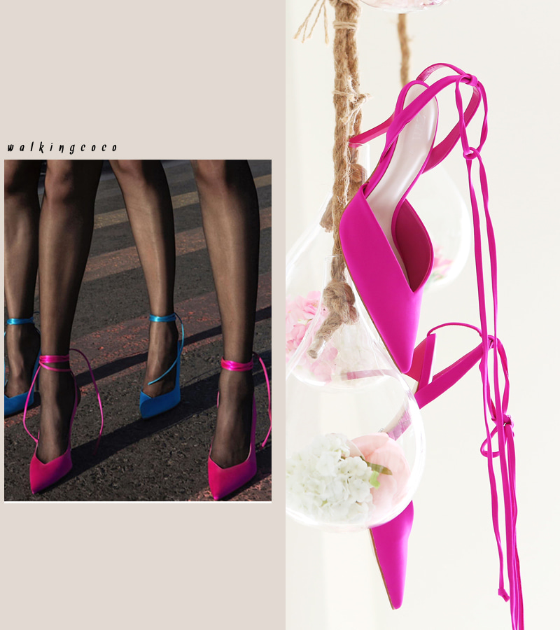 walking edge heel (hotpink)