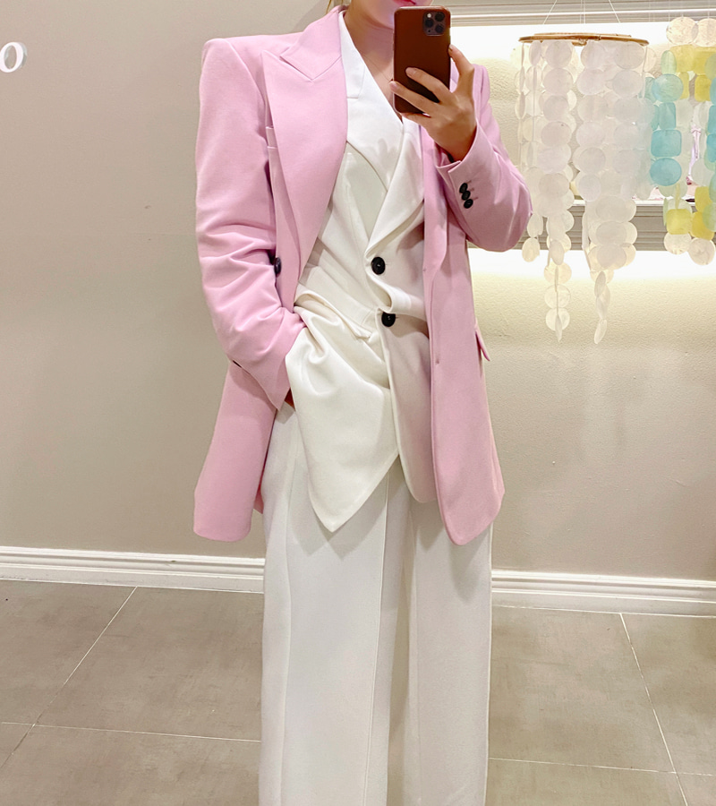 lily long jacket (pink)