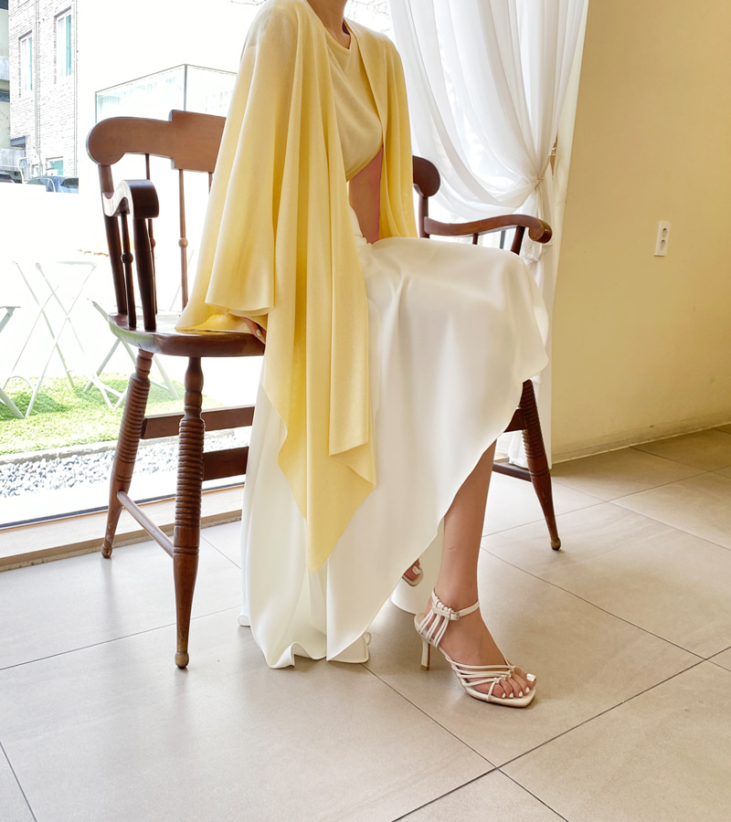 summer knit cape (yellow)