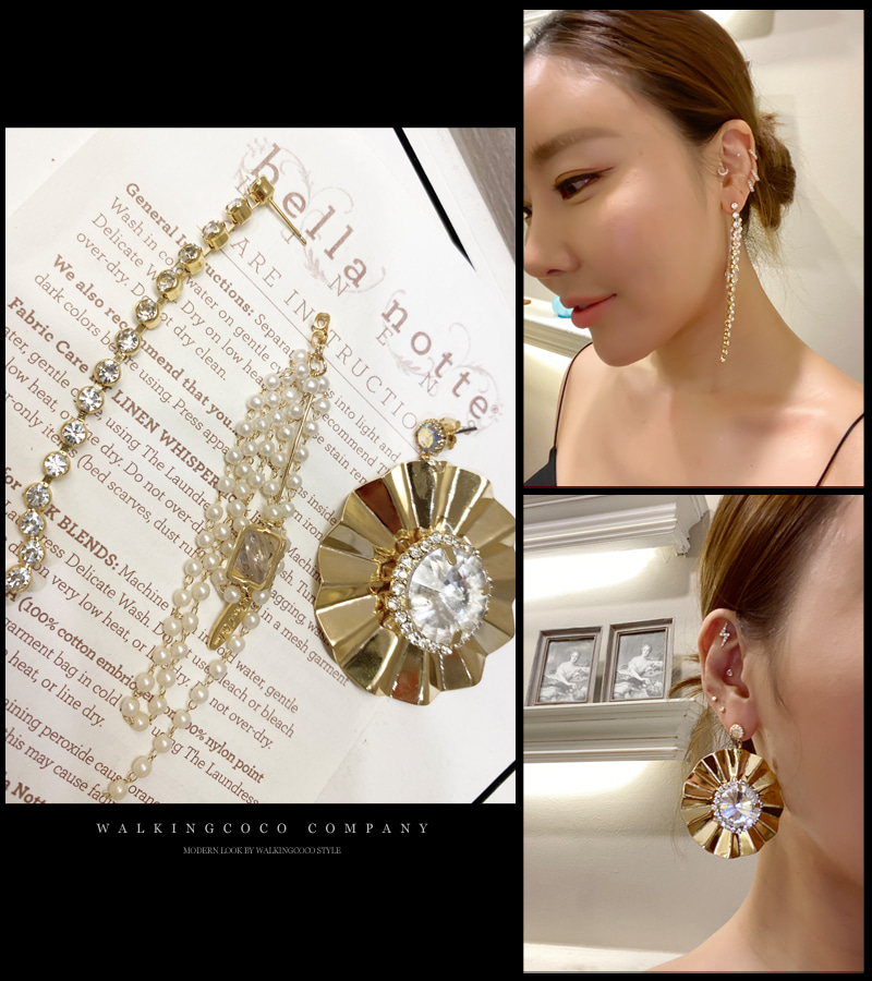multe circle earrings