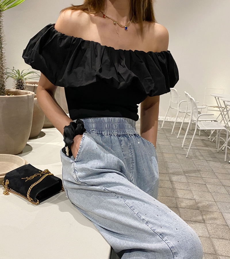 frill bloom blouse